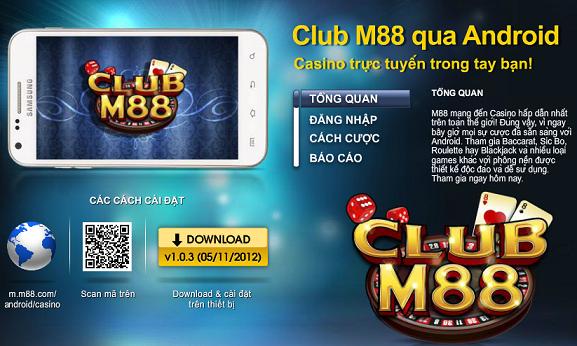 Các ứng dụng M88 phiên bản di động