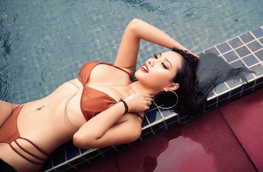 Điên đảo vì nàng Nguyễn Vĩnh Trinh khoe dáng ngọt lịm