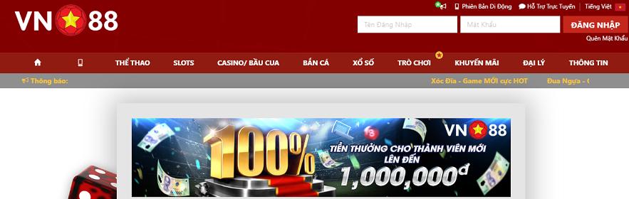 Nhà cái VN88 – kiếm tiền tỷ không khó – Link vào Vn88 mới nhất